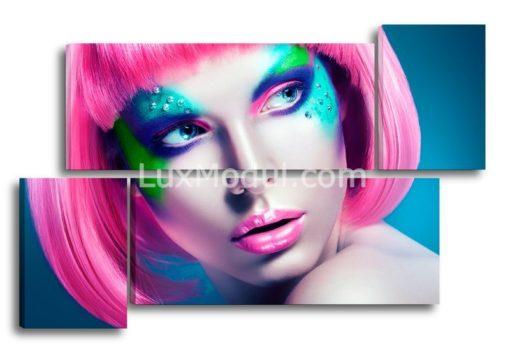 Розовые-волосы-(89х135см)