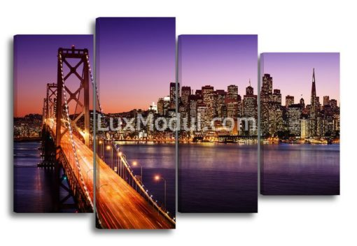 Мост-Сант-Франциско-ночью(89х135см)