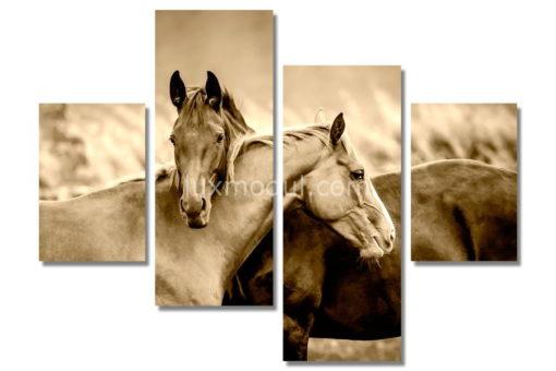 Верные-лошади(89х120см)