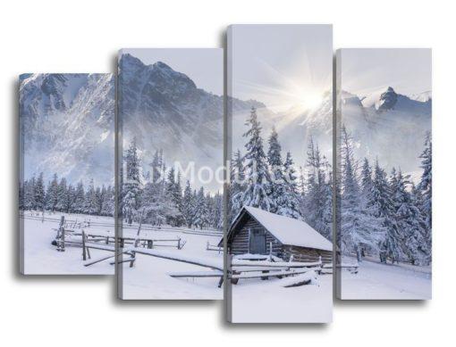 Зимний-пейзаж-в-горах-(89х120см)