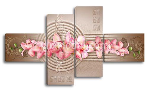 РОзовые—орхидеи-на-песке-(89х157см)