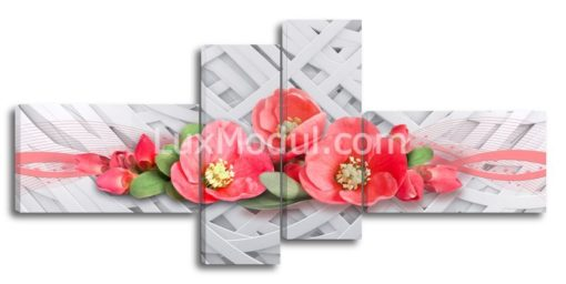 Красные-цветочки-(90х190см)