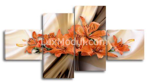 Оранжевые-лилии—(89х170см)