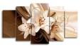 Модульная картина - лилии цветы