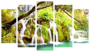 модульная картина водопад