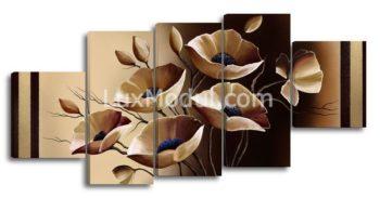 Модульная картина - цветы абстрация