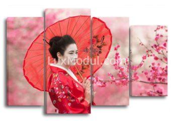 Модульная картина - японская девушка