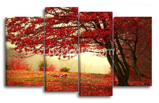 Красное-дерево-(89х145см)