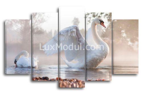 Лебеди-на-пруду-(89х145см)