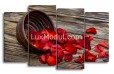 Модульная картина - лепестки роз