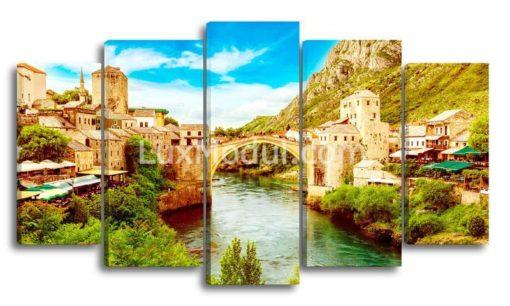 Мост-в-Боснии-(89х157см)