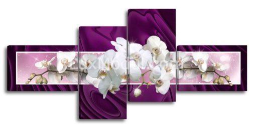 Орхидеи на фиолетовом фоне-(89х190см)