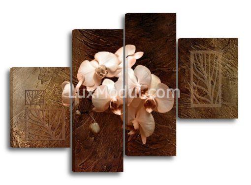 Орхидеи-на-коричневом-фоне-(89х125см)