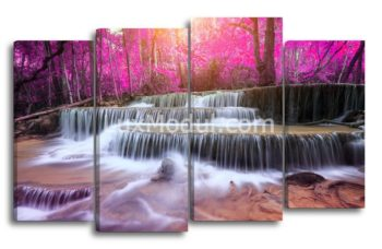Модульная картина - розовый водопад