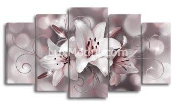 Модульная картина - Цветы лилии