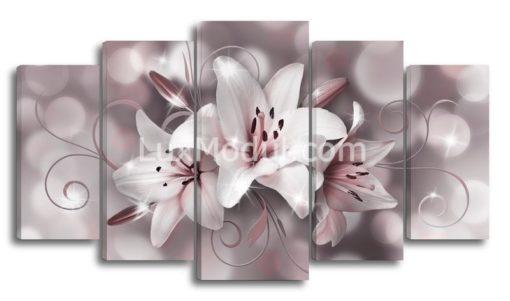 Три-лилии-серые-оттенки-(89х160см)