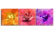 Модульная картина - цветы абстракция