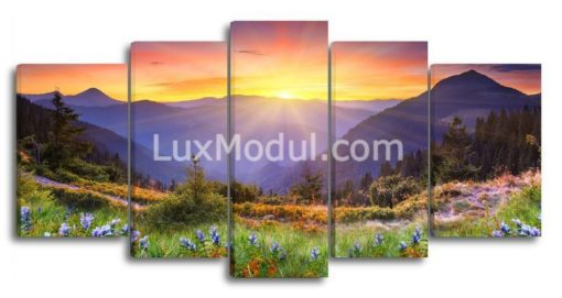 Восход-солнца-в-горах-(89х180см)
