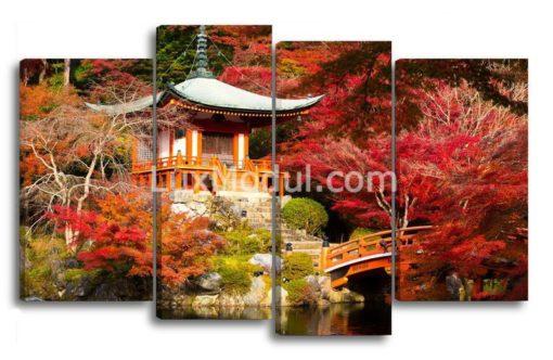 Японский-домик в Киото-(89х145см)