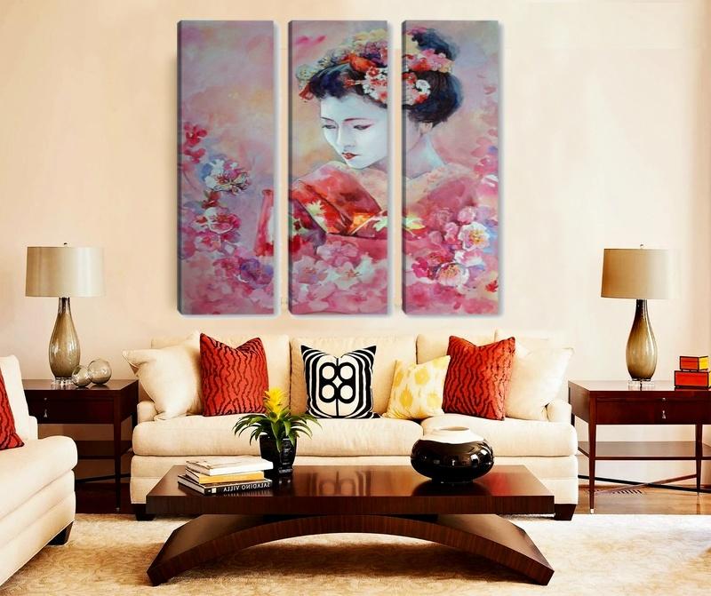 секционная картина в японском стиле