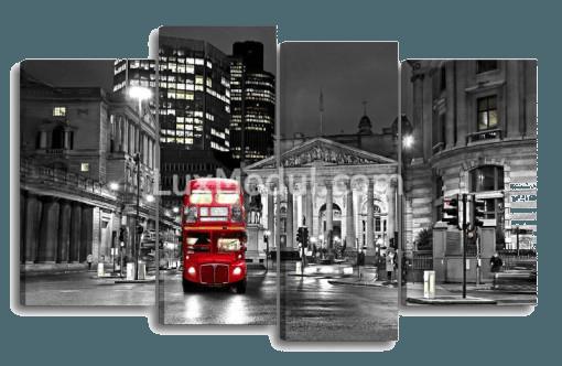 фото модульной картины ночной город