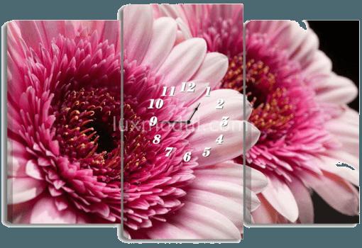 картина-часы с цветами