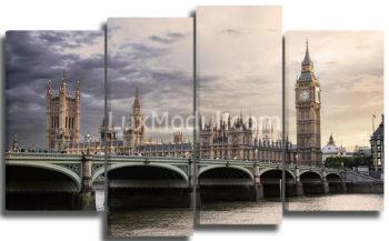 модульная картина полиптих «Вестминстерский дворец» – фото