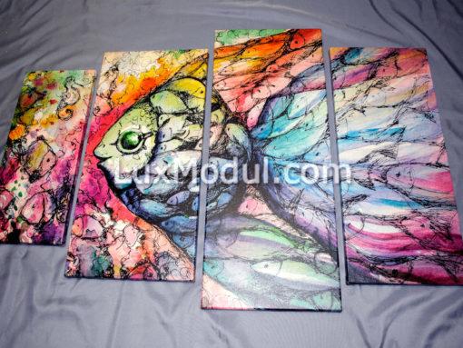 модульная картина рыба