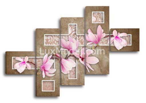 Магнолия-розовая-на-темном(117х172см)