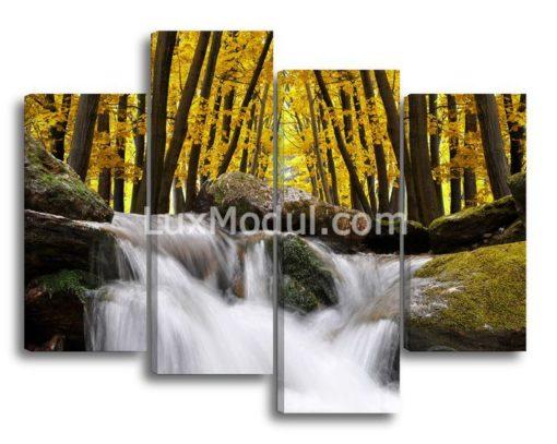 Ручеек-в-лесу(89х115см)