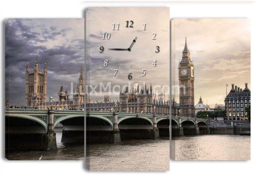 модульная картина часы