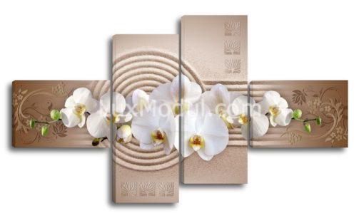 Белые-орхидеи-на-песке-(89х157см)