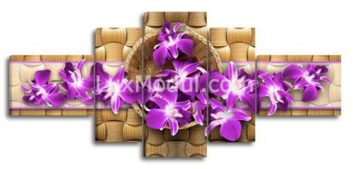Фиолетовые-цветы-в-корзине-(89х200см)