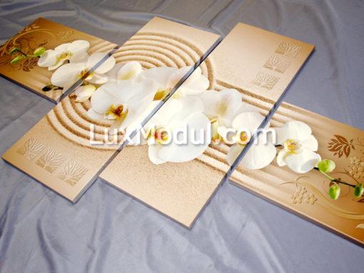 Модульная картина - орхидея на песке