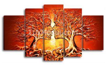 Модульная картина - Поцелуй деревьев