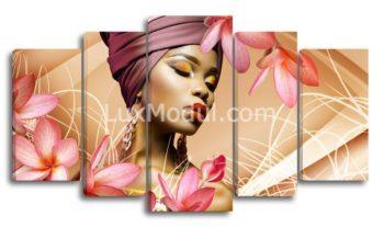 Модульная картина - Африканская девушка