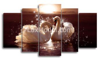 Модульная картина - лебеди