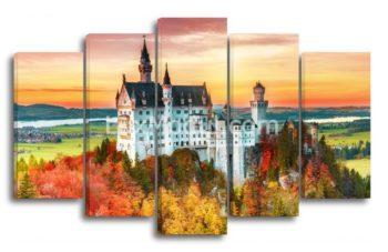 Модульная картина «Пейзаж с замком» — фото
