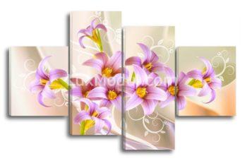 Модульные картины - цветы