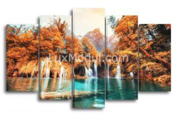Модульная картина - водопад пейзаж