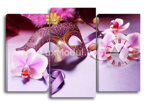 Маска-и-орхидеи-(75х110см)