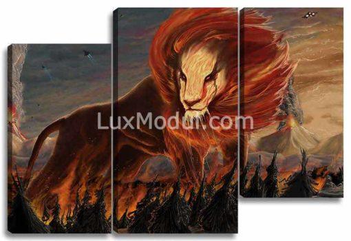 Лев в огне