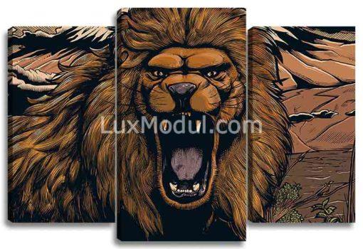 Рычащий лев